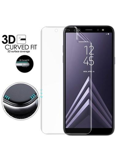 Microsonic Samsung Galaxy A6 2018 Ön + Arka Kavisler Dahil Tam Ekran Kaplayıcı Film Renksiz